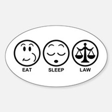 Eat Sleep Law Sticker (Oval)