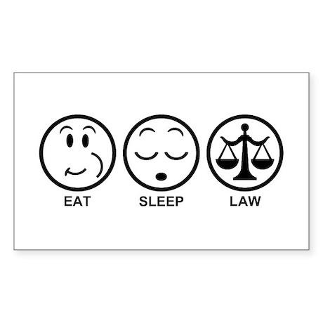 Eat Sleep Law Sticker (Rectangle)