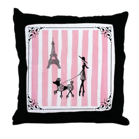 A walk in Paris Throw Pillow
