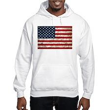USA Flag Grunge Hoodie