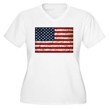USA Flag Grunge T-Shirt