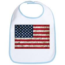 USA Flag Grunge Bib