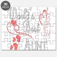 Best Aunt (Pink Hearts) Puzzle