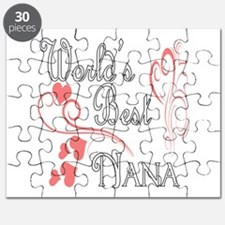 Best Nana (Pink Hearts) Puzzle