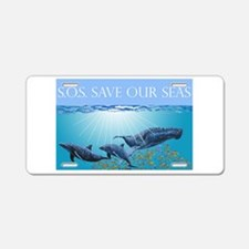 Save Our Seas Aluminum License Plate
