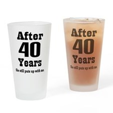40th Anniversary Funny Quote Drinking Glass