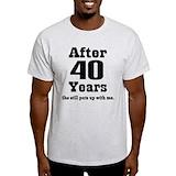 40th wedding anniversary Mens Light T-shirts
