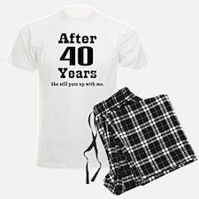 40th Anniversary Funny Quote Pajamas