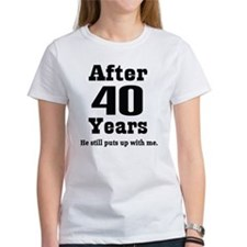 40th Anniversary Funny Quote Tee