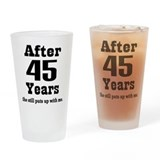 Anniversary 45th Pint Glasses