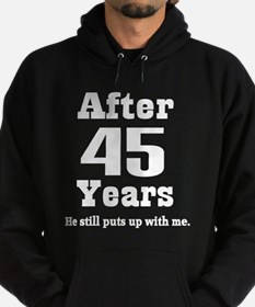 45th Anniversary Funny Quote Hoodie (dark)