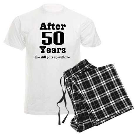 50th Anniversary Funny Quote Men's Light Pajamas