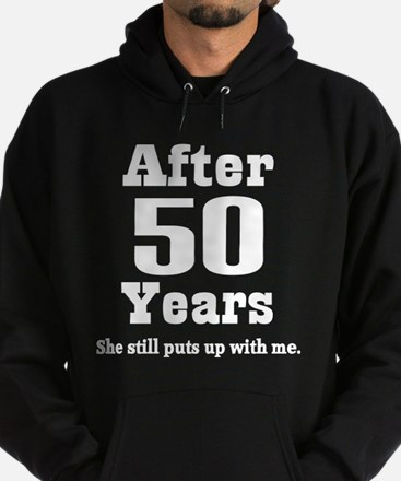 50th Anniversary Funny Quote Hoodie (dark)
