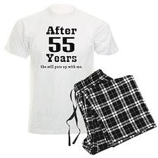 55th Anniversary Funny Quote Pajamas