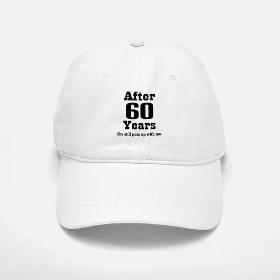 60th Anniversary Funny Quote Baseball Baseball Cap