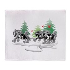 Gypsy Vanner Winter Throw Blanket