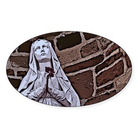 Mary Oval Sticker