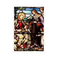 Jesus Blessing the Children Rectangle Magnet