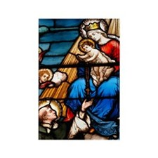 St Dominic and the Rosary Rectangle Magnet (10 pac