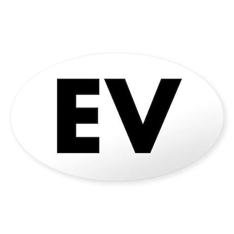Sticker (Oval) Plain EV