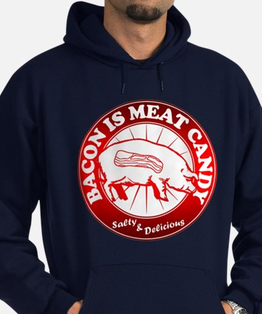 Bacon Is Meat Candy Hoodie (dark)