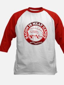 Bacon Is Meat Candy Kids Baseball Jersey