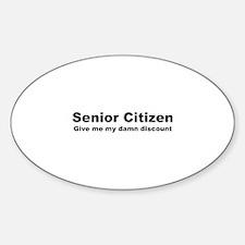 Senior Citizen Discount Decal