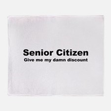 Senior Citizen Discount Throw Blanket