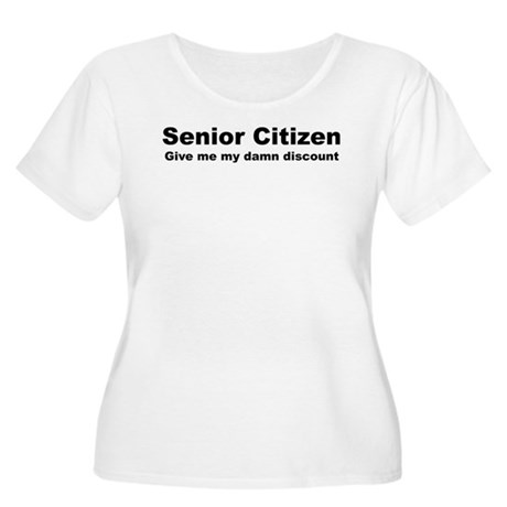 Senior Citizen Discount Women's Plus Size Scoop Ne