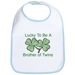 Luck to be A Twin Brother Bib