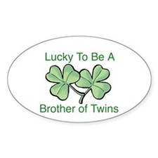 Luck to be A Twin Brother Oval Decal