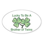 Luck to be A Twin Brother Oval Sticker