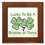 Luck to be A Twin Brother Framed Tile