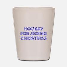 Jewish Christmas Shot Glass