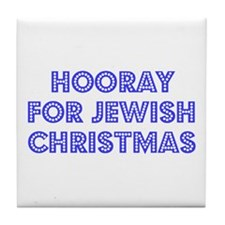 Jewish Christmas Tile Coaster
