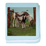 Painted Horse and Foal baby blanket