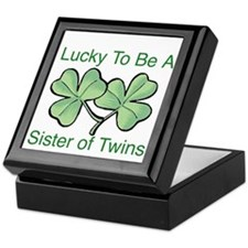 Lucky to be a Twin Sister Keepsake Box