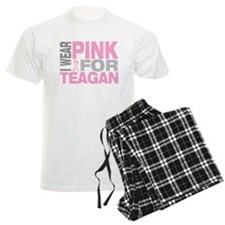 I wear pink for Teagan pajamas