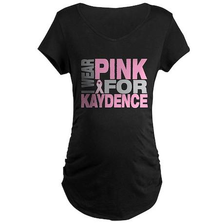 I wear pink for Kaydence Maternity Dark T-Shirt
