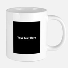 Black Background with Text. Mugs