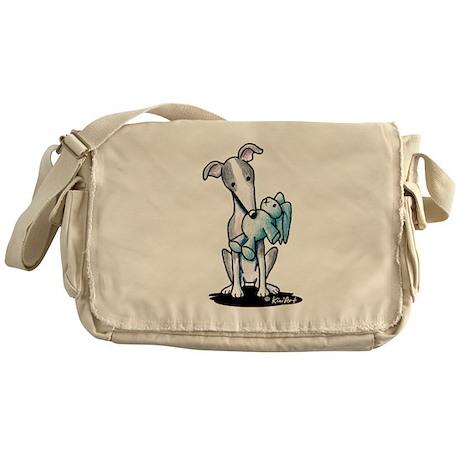 Rabbit Lover Greyhound Messenger Bag