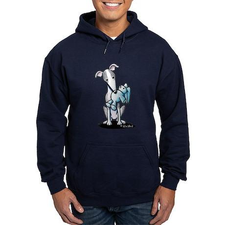 Rabbit Lover Greyhound Hoodie (dark)