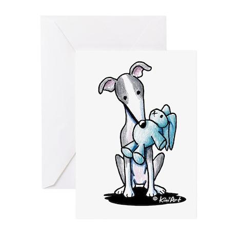 Rabbit Lover Greyhound Greeting Cards (Pk of 10)