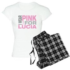 I wear pink for Lucia Pajamas