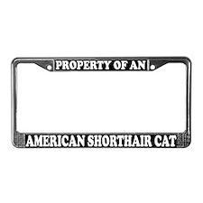 American Shorthair Cat License Plate Frame