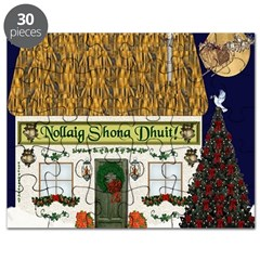 Gaelic Christmas Cottage Puzzle