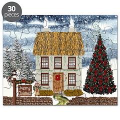 Christmas Thatched Irish Cottage Puzzle