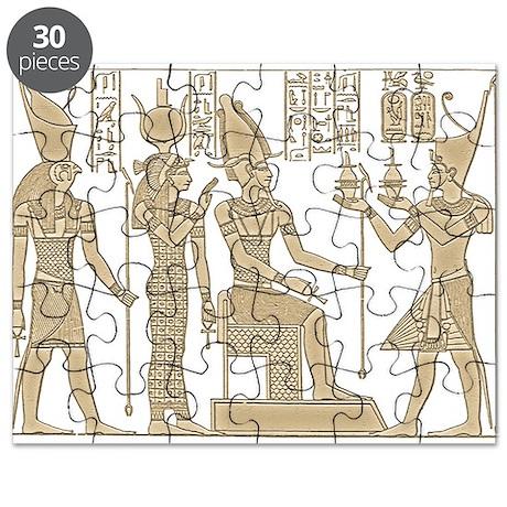 Vintage Egyptian Panel Puzzle