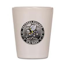 USN Seabees Builder BU Shot Glass