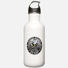 USN Seabees Builder BU Water Bottle